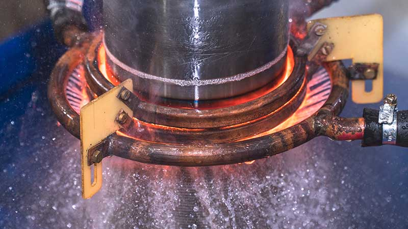 Закалка ТВЧ - осуществляется при определенной температуре для каждого метала, потому как все металлы имеют разную твердость